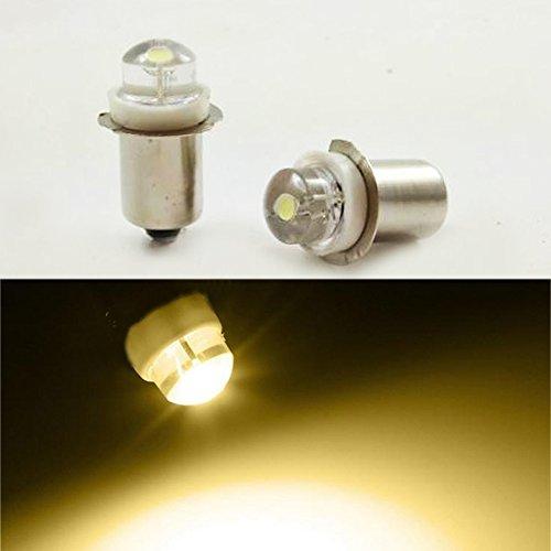Bombilla LED de luz blanca cálida para linterna o faro, P13.5S, 3V, 4,5V, 6V, 0,5W, 0,75W, 4300K, 4 unidades, 6 V