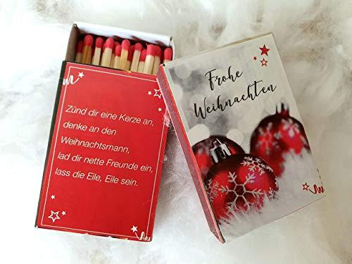 Weihnachtliche Streichhölzer, Gastgeschenk