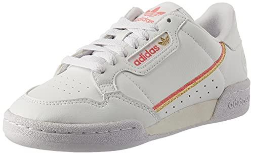 adidas Damen Continental 80 Vegan Sneaker, Cloud White/Hazy Rose/Gold Metallic, 40 EU