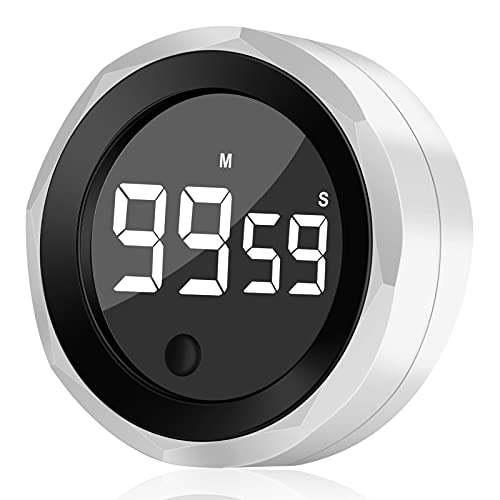 Digital Kitchen Timer for Cooking Magnetic Countdown Timer with Large LED Display Egg Timer with USB Charging Two-Level Volume, Easy to Learning Exercise, Visual Timer Suitable for Children Adults