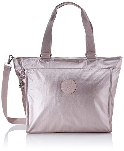 Kipling Damen New Shopper L Tote, Pink (Metallic Rose), 48.5x34x17.5 cm