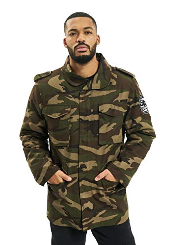 Dangerous DNGRS Herren Winterjacken Peter Two in One Camouflage 2XL