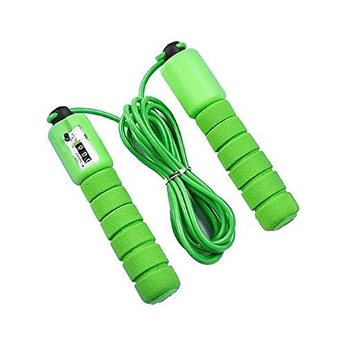 SYXX Springseil, Seil Einstellbare Geschwindigkeitszählung Springseil, Studentenaufnahmeprüfung Fitness Jump Rope Zählen Fitness, Schwamm Springseil, professionelle elektronische Zählung Skipping