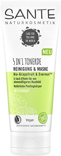 SANTE Naturkosmetik 5 in1 Tonerde Reinigung & Maske, 100ml