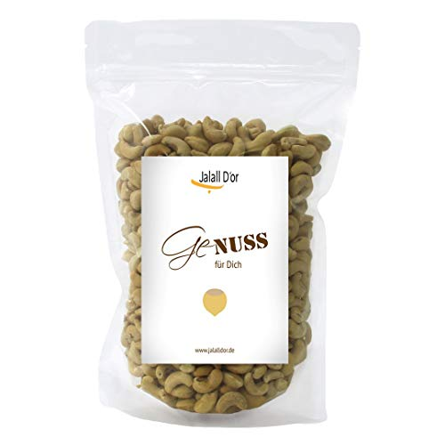 Cashewkerne bio Jalall D\'or   1kg   natur   BIO zertifiziert   ganz   BIO CASHEWS frisch abgefüllt   wertvolle MAGNESIUM-Quelle   natürlicher TRYPTOPHAN-Lieferant   Cashewnüsse 1000 g