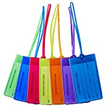 Luggage <span class='highlight'>Tag</span>s 8 Pack,Auervo Flexible Silicone Travel <span class='highlight'>Tag</span>s, ID Labels, Name Card Holder for Baggage Bags Suitcases Backpacks 8 Colors (8pcs)