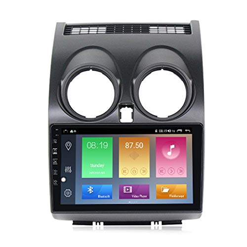 ADMLZQQ Android Radio De Coche Navegacion GPS para Nissan Qashqai 1 J10 2006-2013 Coche Reproductor MP5 Manos Libres FM USB Controles del Volante Enlace Espejo+Cámara Trasera,M500 4+64g