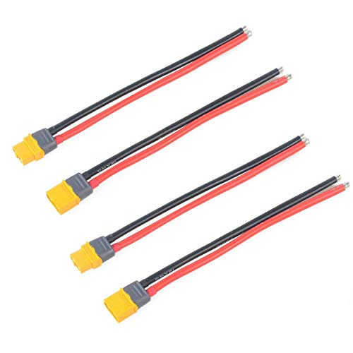 2 Stücke XT60 Stecker Männlich Weiblich Stecker mit Mantel Gehäuse Stecker mit 150mm 12AWG Silikondraht für RC Lipo Batterie FPV Drone