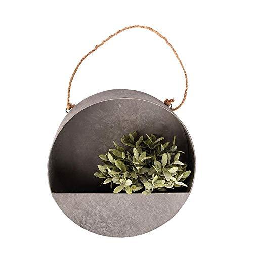 Rivanto® Wand- Pflanzschale Größe L Ø35 x H10,5 cm, runder Blumentopf für Wandmontage, halboffen, Dekoration für Terrasse und Balkon
