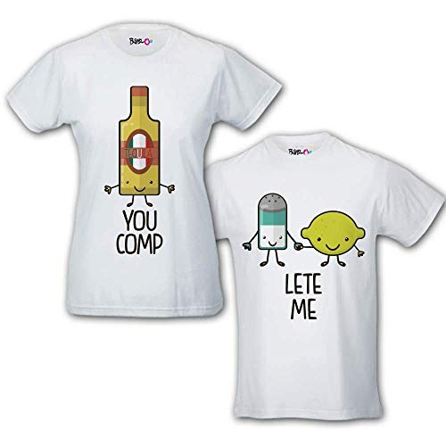 T-shirt You Complete Me Tequila zout citroen