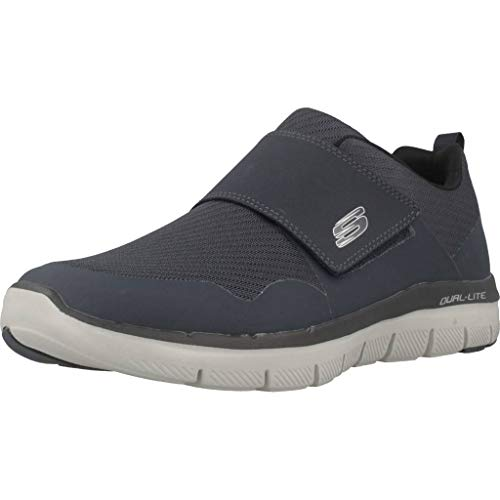 Skechers - Zapatillas Deportivas De Hombre Skechers De Color Azul con Cierre De Velcro