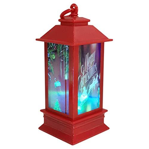 Vela de Navidad con LED de Té Velas de Interior de la Vela de la Linterna de Navidad LED Linterna para la Decoración de Navidad