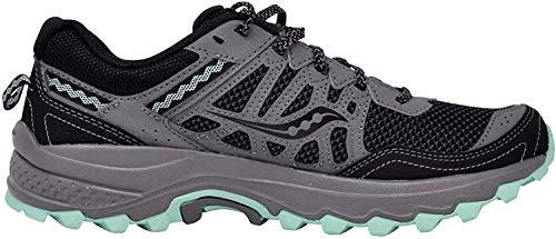 Saucony Women's Grid Excursion TR12 Sneaker, Black/Grey/Mint, 9.5 M US