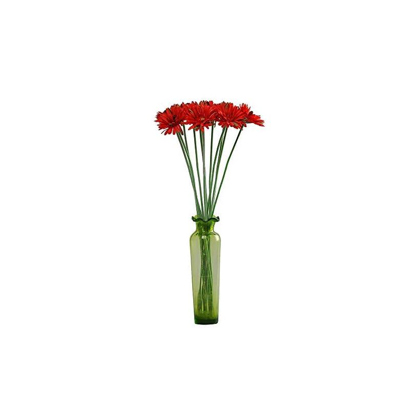 silk flower arrangements cn-knight artificial flower 12pcs 22'' long stem silk daisy faux mums flower chrysanth gerbera for wedding bridal bouquet bridesmaid home decor office baby shower prom centerpiece(red)