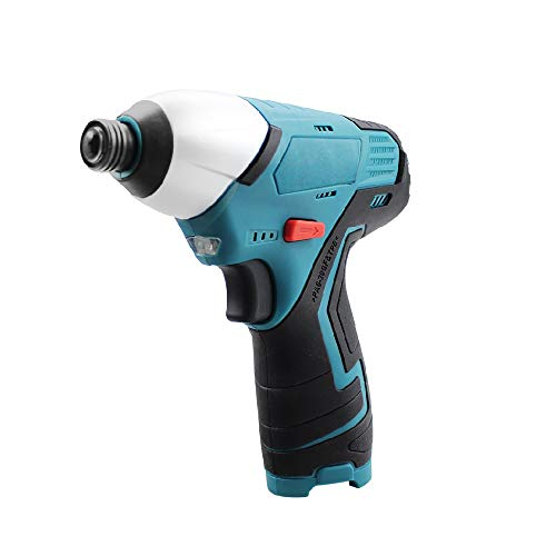 Electric Screwdriver Rechargeable 1/4'', 12v Cordless Impact Screwdriver, 1150 In-Lbs Torque Compatible with Makita 12/10.8v Battery, Front LED Light for Home DIY (Battery Not Included)