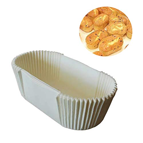 Disposable White Bread Loaf Baking Liners Non-Stick Loaf Bread Baking Liners Paper Loaf Cups Liners