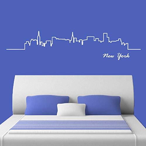 Vinilo adhesivo para pared Skyline New York Words Nueva York Estatua de la Libertad de 22 pulgadas
