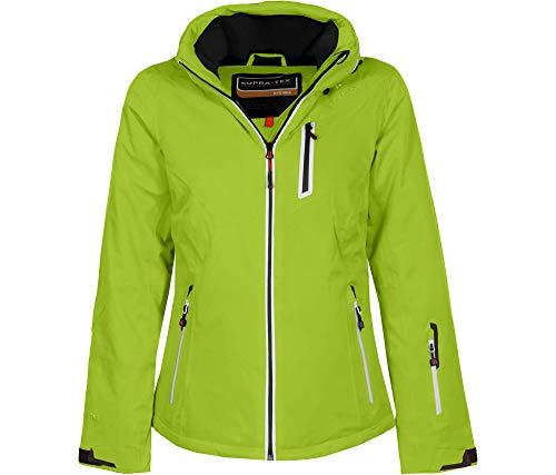 Bergson Damen Skijacke Nice, Lime Green [242], 50 - Damen