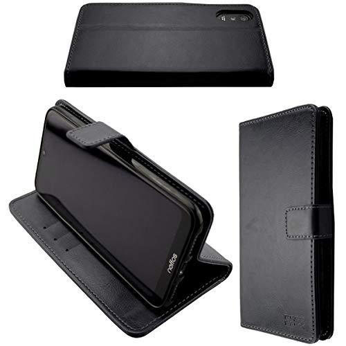 caseroxx Handy Hülle Tasche kompatibel mit Neffos C9 Max Bookstyle-Hülle Wallet Hülle in schwarz