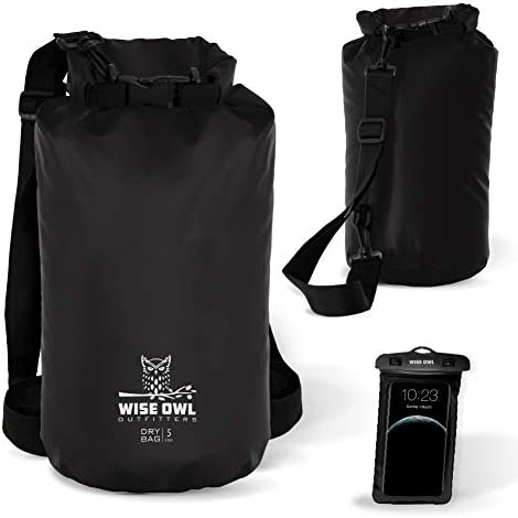 Wise Owl Outfitters Dry Bag Thick Durable Waterproof Bags Fully Submersible Roll Top Drybag product image