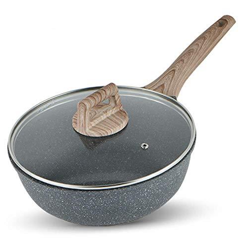 Monster Antistick Deep Frying Pan Huishoudelijke Gas Cooker Elektromagnetische Oven Paella grote Glas Cover Aluminium Inductie Cooker