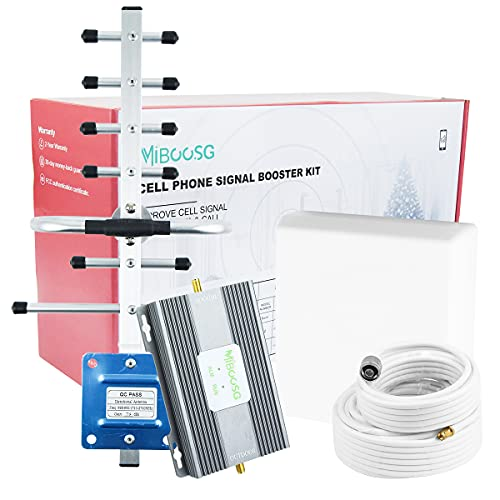 AT&T Cell Phone Signal Booster 4G LTE 5G Cell Signal Booster AT&T Cell Phone Booster AT&T Signal Booster US Cellular Cricket T-Mobile Band 12/17 ATT Cell Signal Booster Amplifier Boost Calls/Data