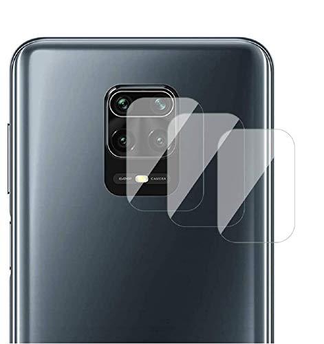 GEEMEE Protector de Lente de cámara für Xiaomi Redmi Note 9S/ 9 Pro/9 Pro MAX/Redmi Note 9,Cristal Templado Película Vidrio Templado 9H Alta Definicion Glass Screen Protector Film- 3 Pack