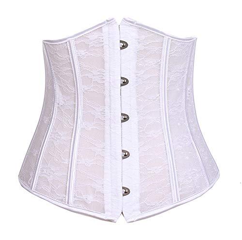 De las mujeres Sexy Corset Underbust Mujer Gótico Corset Top adelgazamiento Cinturón Blanco Vasco Blanco Blanco Corsets Rojos Bustier Plus Tamaño Corcador 6XL Para damas y niñas