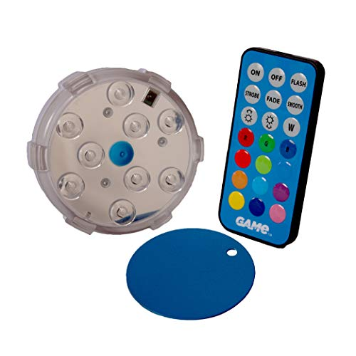 GAME 4306-BB Waterproof Magnetic LED Color-Changing Pool Wall Light with Remote Control 100% Waterproof & Submersible, 3', Old Model (Discontinued)