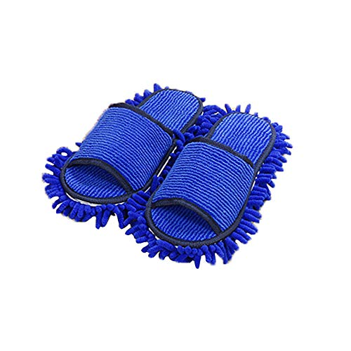 Keisl Slippers Mopa 1 Pairs Multifunction Dust Cleaner Slippers House Bath Cotton Dust Mop Shoes Slippers Cleaning For Home