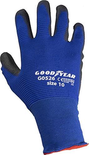 guanti da lavoro goodyear Goodyear Guanti Tessuto Nido d Ape con Palmo in Poliuretano Tg.10
