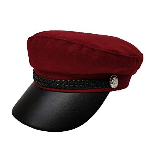 Gorras de moda gorras Al aire libre Deportes CAP - moda de las mujeres del otoo y sombreros de invierno, de la Mujer Salvaje Ocio, retro britnico Flat-Top Cap, viajes de ocio sombrero de los deporte