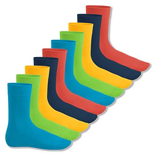 Footstar Herren & Damen Baumwollsocken (10 Paar), Klassische Socken aus Baumwolle - Everyday! - Trendfarben 43-46