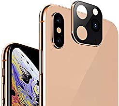 Peedeu Camera Lens Protector for iPhone Xs Max/Xs/X,Camera Lens Cover Change Xs to iPhone 11 Pro,Tempered Glass Screen Protector with High Definition&Anti-Scratch Fingerprint (Gold)