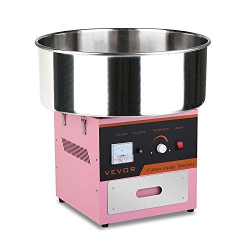 BuoQua Zuckerwattemaschine Zucker Rosa Profi Edelstahl Zuckerwatte Maschine für Zuhause 1000W Elektrische Zuckerwattegerät