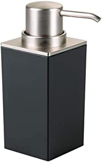 iDesign InterDesign Kitchen Bathroom Vanities-Black/Brushed Clarity Soap Pump