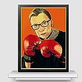 Ruth Bader Ginsburg affiches imprime les femmes appartiennent à tous les lieux décisions prises citations affiche rétro décoration de la maison peinture sur toile (50X70Cm) -20x28 pouces sans cadre