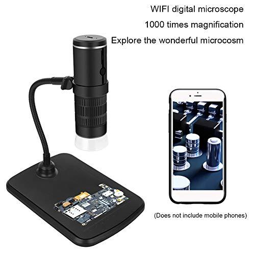 SILENTLY WiFi Microscopio Digital, Industrial Microscopio Electrónico, Pixel HD 1080P / 360 ° Touchable Focus, Portátil Microscopio Óptico
