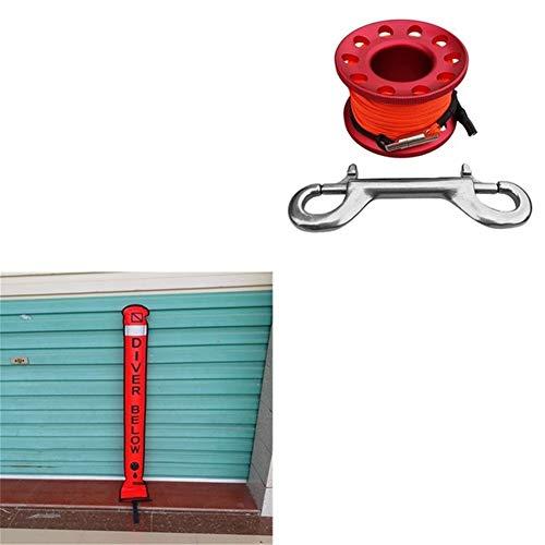 Tonglura Relajante Buceo con escafandra Superficie Tubo Marcador boya de señalización con Buceo Carrete de Deporte Natación Buceo Piscina Accesorios Alegre (Color : Red)