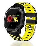 Reloj Inteligente con Bluetooth, Fitness, IP68 Impermeable Pulsera Pulsera, Podómetro Actividad, Sistema Android Disponible, Adecuado para Hombres y Mujeres-Amarillo