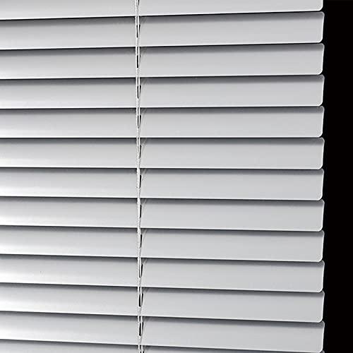 JLXJ Persianas Venecianas Aluminio para Baño de Oficina Persianas Venecianas, Pantalla de Privacidad Impermeable Plateada, Listón de 2,5 Cm De Ancho, 75cm / 95cm / 115cm / 135cm de Ancho