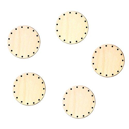 5x Korbboden, rund, 9cm für 3mm Rohr - Flechten, Korbflechten, Schilf Set, Peddigrohr, Flechtmaterial, Flechtset, Rattan