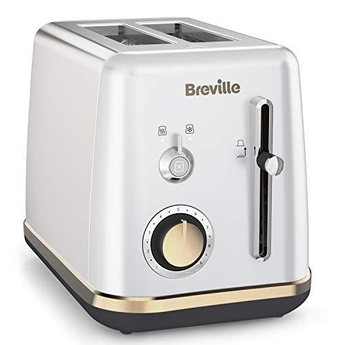Breville VTT935X-01 VTT935X Mostra 2-Scheiben-Toaster in Mondscheinsilber, Kunststoff, Silber
