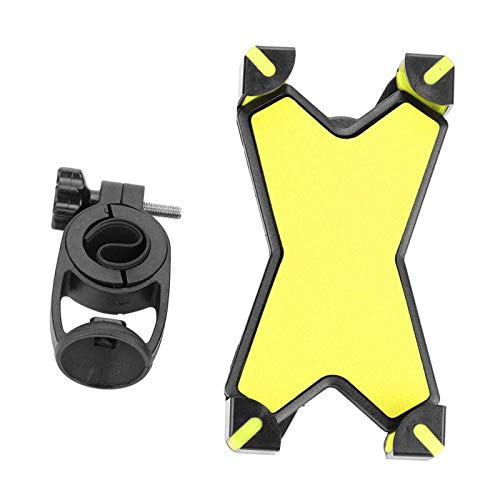 SALUTUYA Handlebar Phone Holder Durable Universal Safe Sturdy for Mountain Bike For Bicycle Or Motorcycle(yellow)