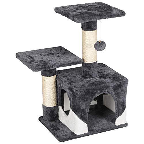 Yaheetech krabpaal voor katten klimboom kattenboom 69 cm hoog met 2 platform