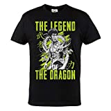 Rule Out Hombre Camiseta. Bruce Lee. The Legend of The Dragon. Karate. Negro Casual Wear (Taille Medium)