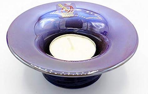 Le Gemme di Venezia Murano Collection Copa Yalos Color Amatista Cristal de Murano Made in Italy