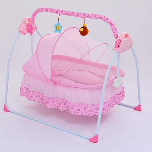 For Sale! DFDFS SANPLO CBBAY Electric Cradle Baby Swing Infant Bed Cot Crib Rocking Basket Newborn B...