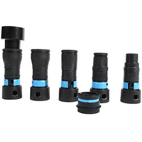 Cen-Tec Systems 95237 32mm Staubsauger-Elektrowerkzeug/Schleifer Staubabsaugungs-Adaptersatz (19-58mm) Kompatibel mit Milwaukee, Festool, Fein, Hitachi, Einhell und anderen