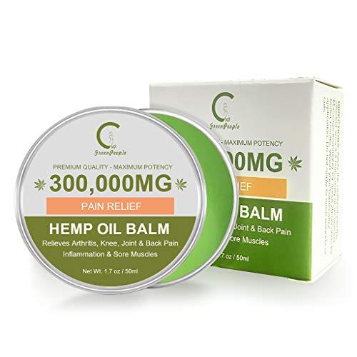 GPGP GreenPeople Hanf Schmerzlinderung Balsam - Hanf Heilsalbe für Rücken, Knie, Hände, Hals, Füße, Schmerzen, Entzündungen, Gelenke - Hanfcreme - 50mL